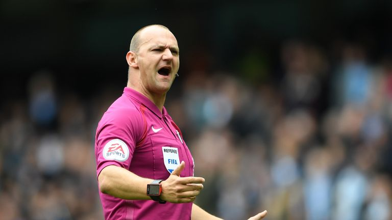 Referee Bobby Madley in June 2017