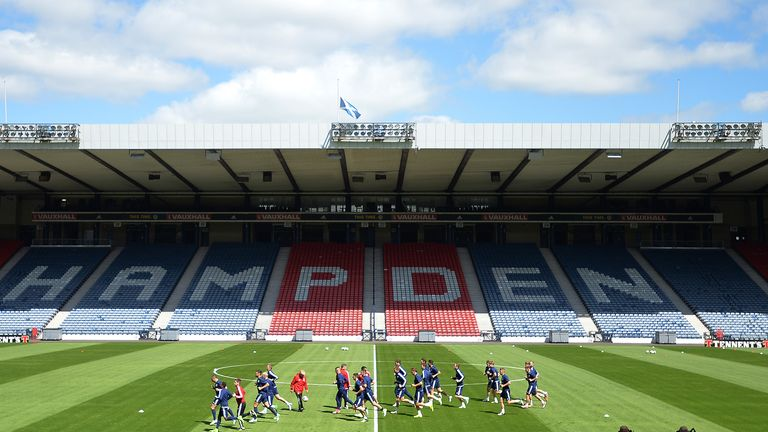 Hampden will hold the Scottish League Cup semi-final between Rangers and Aberdeen while Hearts play Celtic at Murrayfield