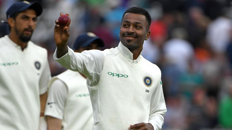Hardik Pandya claimed his first five-wicket haul in Tests