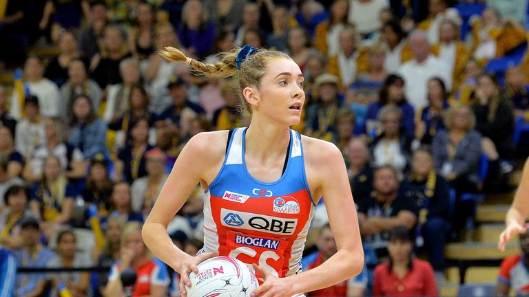 Helen Housby has signed a three-year deal with the NSW Swifts