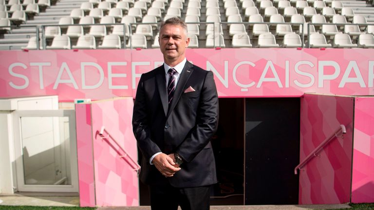 Former Springbok head coach Heyneke Meyer takes charge of Stade Francais this season