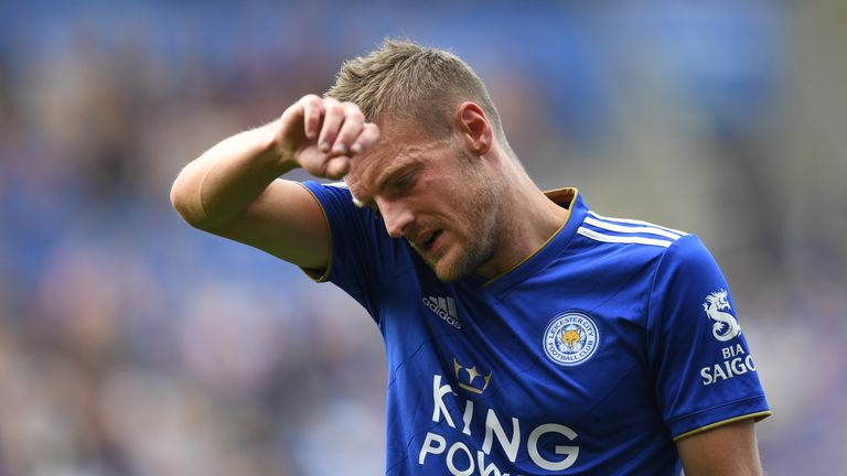 Vardy a doubt for Leicester's clash with West Ham