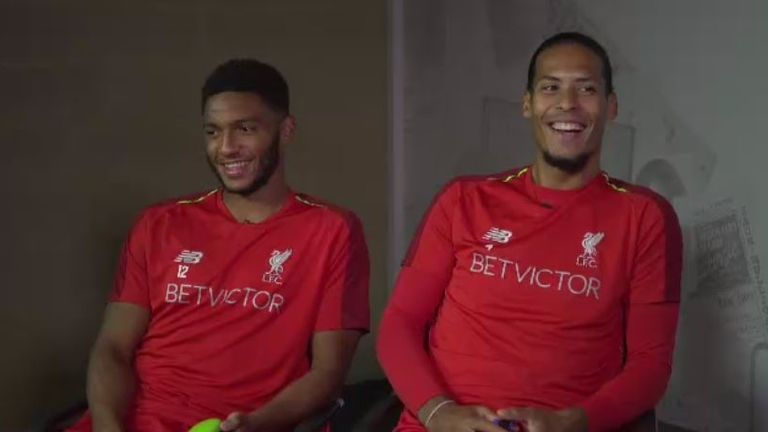 Joe Gomez (left) and Virgil van Dijk's partnership at the back this season has impressed Paul Merson
