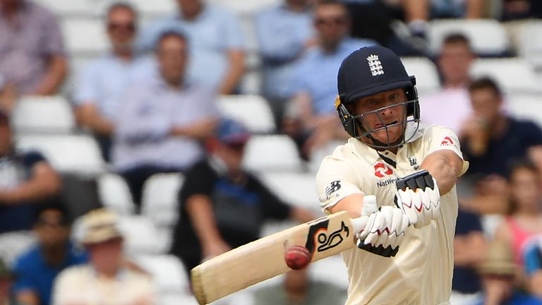 Jos Buttler batted brilliantly for his maiden Test century but India are on the brink victory