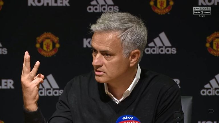 Jose Mourinho stormed out of his post-match press conference demanding respect for his three Premier League titles