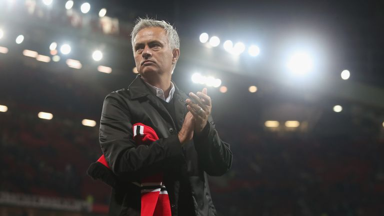 Mourinho applauded United supporters after their match with Tottenham