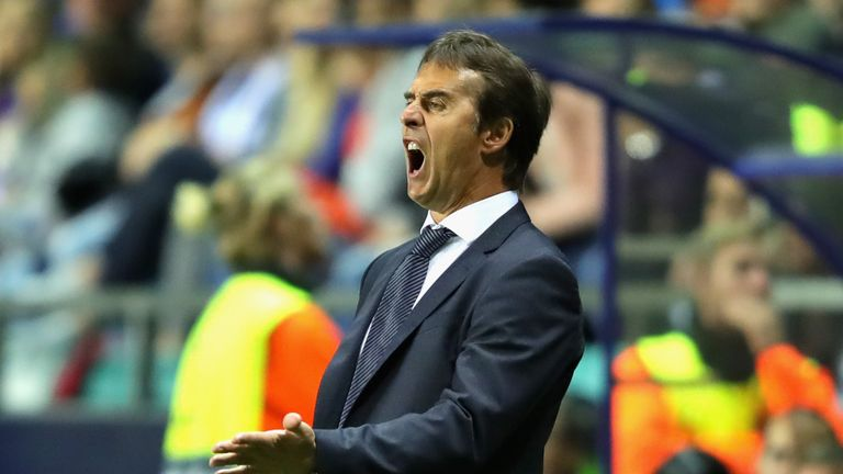 Lopetegui's first competitive game in charge ended in a defeat