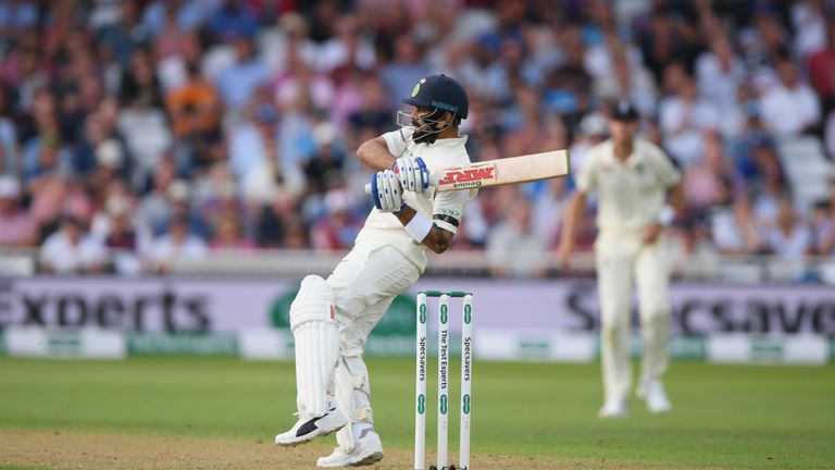 during day one of the 3rd Specsavers Test Match between England and India at Trent Bridge on August 18, 2018 in Nottingham, England.
