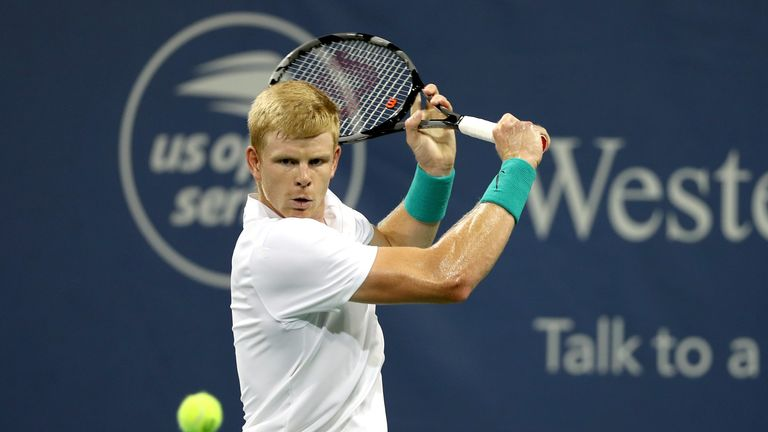 Kyle Edmund sailed through to the second round at the Winston-Salem Open