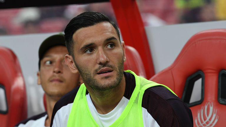 Lucas Perez completed a deadline day move from Arsenal to West Ham