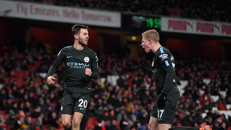 Manchester City cantered to victory against Arsenal at the Emirates in March