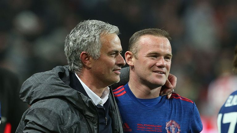 Rooney fell in the hierarchy of José Mourinho