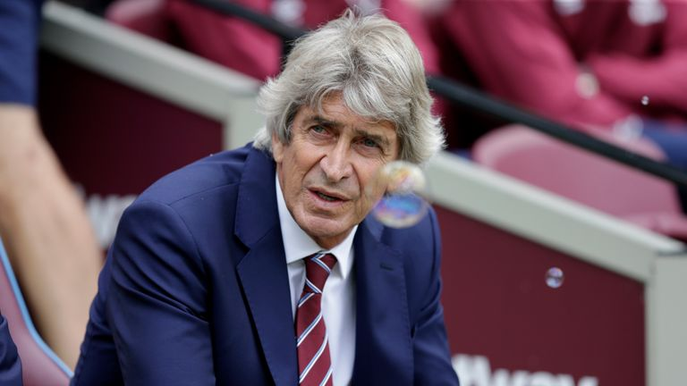 Manuel Pellegrini was taking charge of his first Premier League home game as West Ham manager