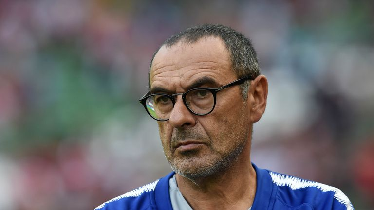 Maurizio Sarri will take charge of Chelsea at Wembley on Sunday