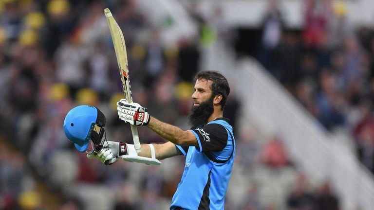 Ali struck his maiden T20 ton against Birmingham Bears on August 17