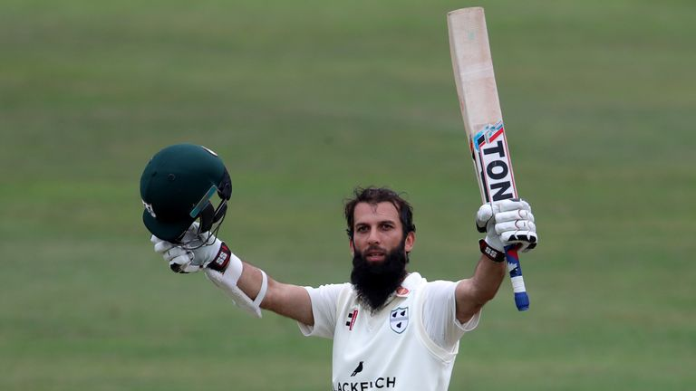 Moeen Ali scored a County Championship double century a week before his England return