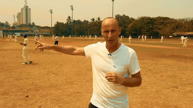 Nasser at one of the many maidans where cricket is played in Mumbai