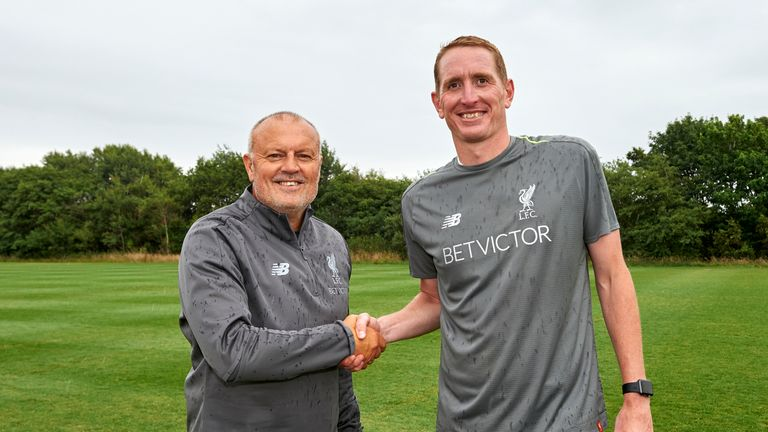 Chris Kirkland, right, has taken over as caretaker manager [Credit: Liverpool FC]