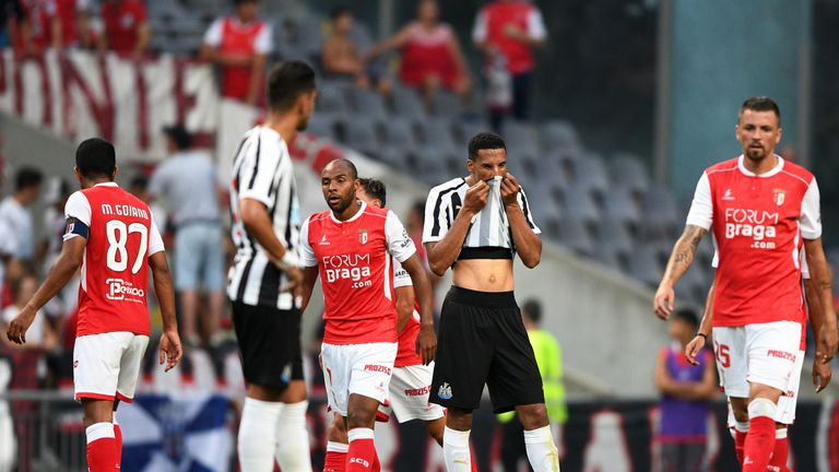 Newcastle's Portuguese tour ended in defeat