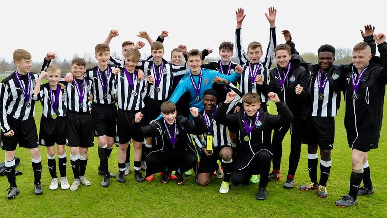 Newcastle were the winners of the U14 player-led festival in 2017/18
