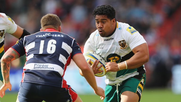 Campese Ma'afu in action for Northampton Saints.