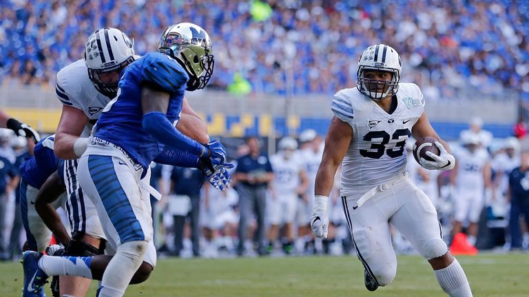 Lasike played college football for Brigham Young University before attempting his NFL career