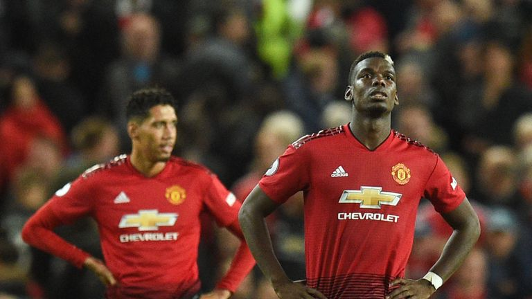 Paul Pogba and Chris Smalling reflect during Man Utd's 3-0 home defeat to Tottenham Hotspur
