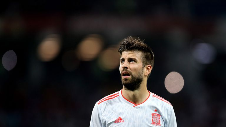 Gerard Pique has retired from international football