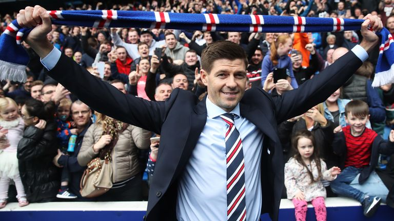 Steven Gerrard is unveiled as the new manager of Rangers