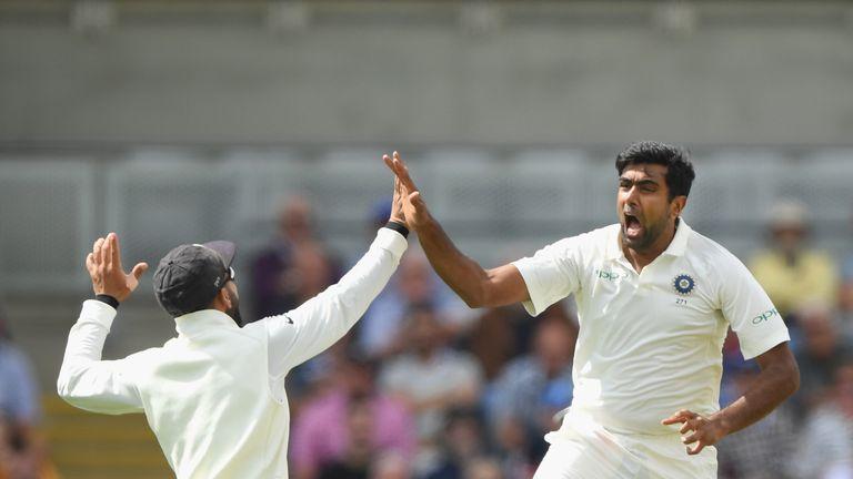 Ravi Ashwin took 4-60 as England collapsed at Edgbaston