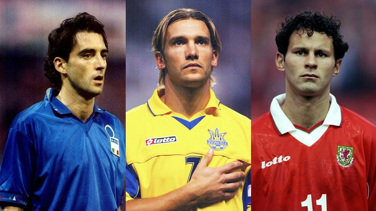 Roberto Mancini, Andriy Shevchenko and Ryan Giggs are all national team coaches