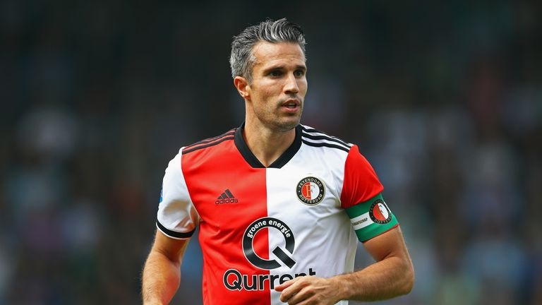 Robin van Persie had a mixed afternoon on Sunday