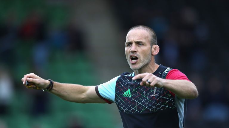 Paul Gustard left his role as England defence coach to take the Harlequins job