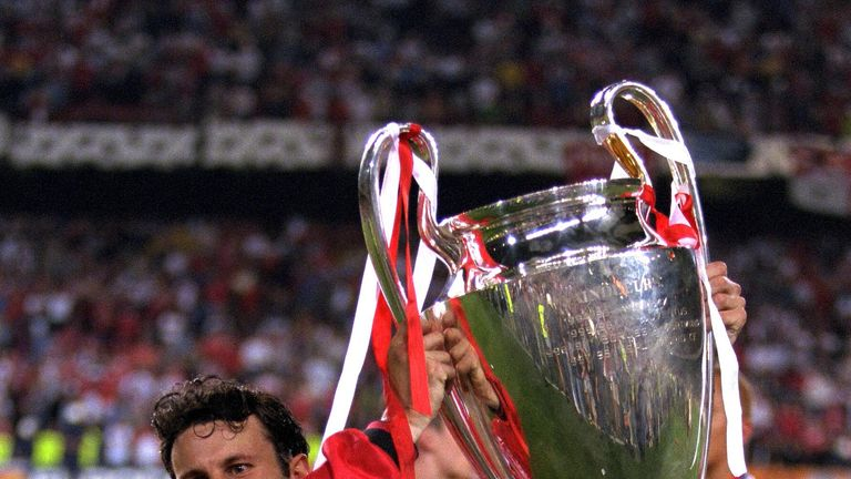 Ryan Giggs won his first Champions League with Manchester United in 1999