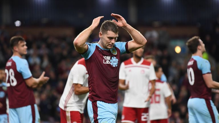 Burnley missed several chances against the Greek side