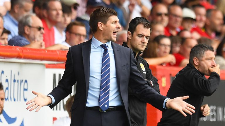 Rangers manager Steven Gerrard says 'it seems like the world is against us'
