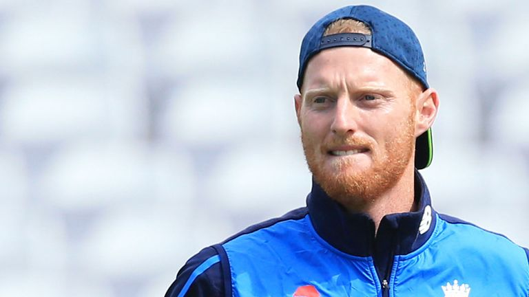 Ben Stokes trains with England ahead of the third Test against India.