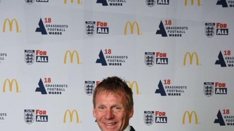 Pearce at the 2018 FA & McDonald's Grassroots Football Awards