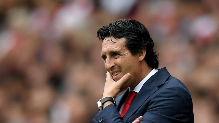 Unai Emery made his competitive Arsenal debut as manager on Sunday