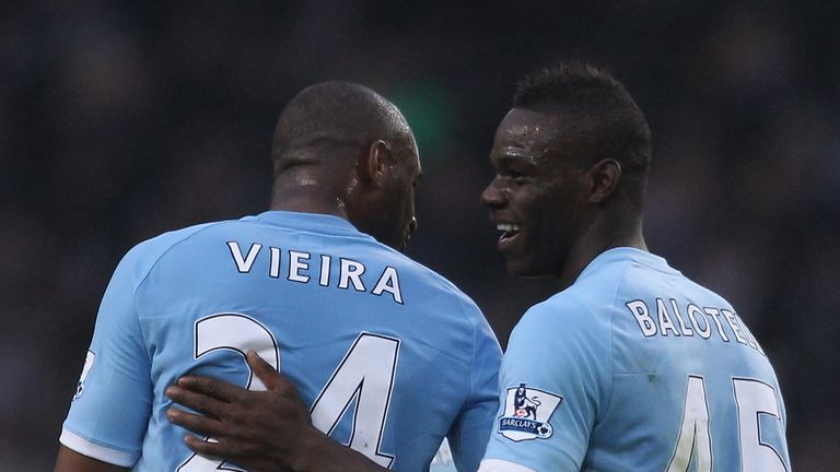 Vieira played with Balotelli at Manchester City