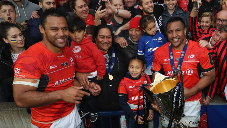 The Vunipola brothers also won the Champions Cup with Saracens in 2017
