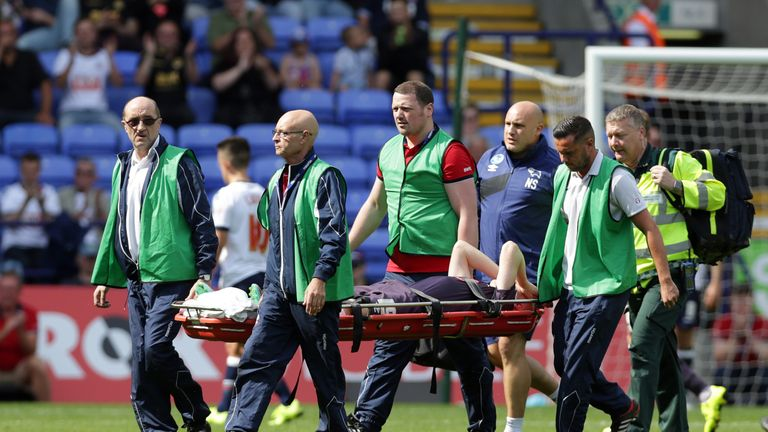 Hughes suffered a cruciate ligament injury against Bolton in 2015