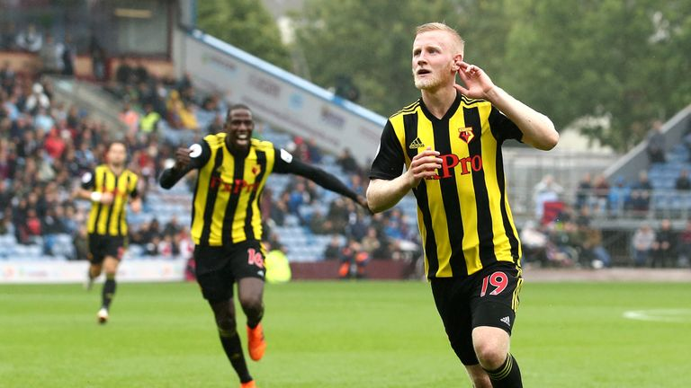 Will Hughes has scored three goals for Watford since joining from Derby last summer