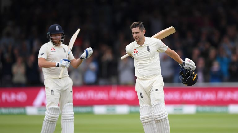 Chris Woakes and Jonny Bairstow put on 189 in a crucial stand for England