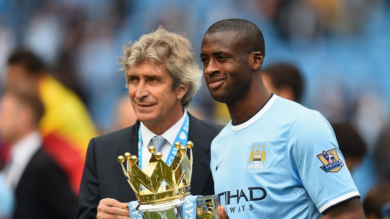 Manuel Pellegrini and Yaya Toure won the Premier League together at Man City