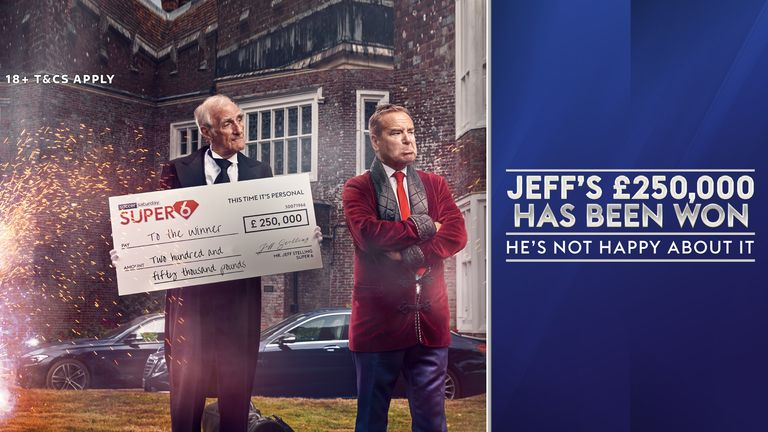 Jeff has given away £1.5m over the last fortnight
