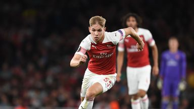Emile Smith Rowe could make his full debut for Arsenal