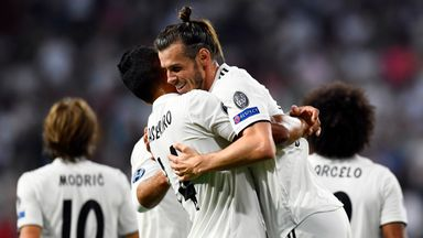 Gareth Bale scored the second of the evening for Real Madrid