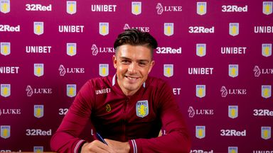Jack Grealish was linked with a move to Tottenham in the summer