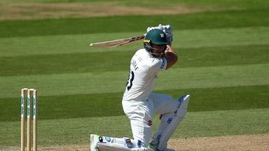 Joe Clarke ended day two unbeaten on 74 for Worcestershire